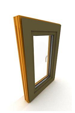 okno drewniano - aluminiowe DAKO