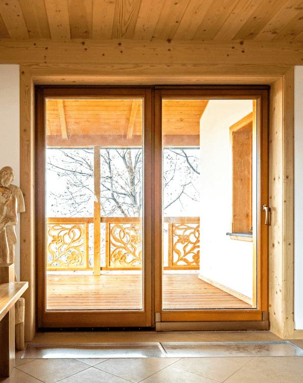 Drewniane drzwi tarasowe
